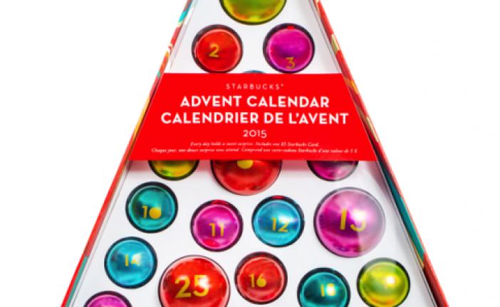 Advent Calendar 2015 Starbucks