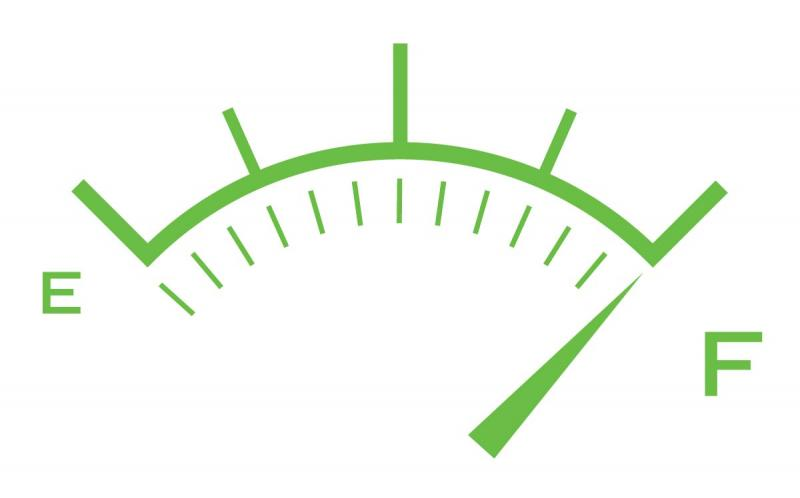 gas-gauge full