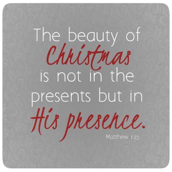 Christmas - His Presence Not Presents