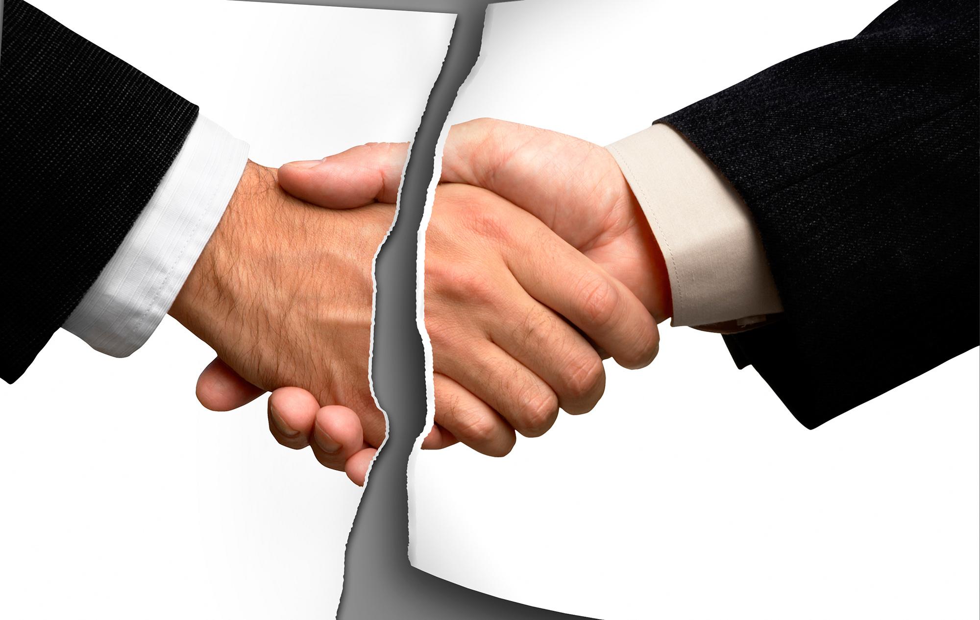 broken handshake